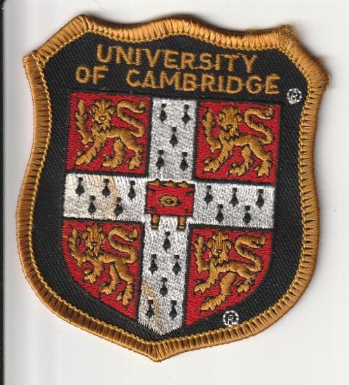 Nášivka - UNIVERSITY OF CAMBRIDGE - Faleristika