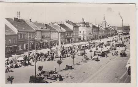 Rakovník, náměstí, trh, AUTO - Pohlednice