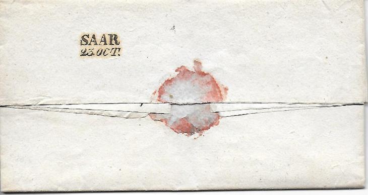 Skládaný dopis Žďár 1840 RU - Filatelie