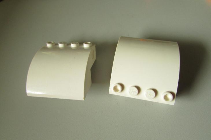 lego - 2x bílý větší kus  - Hračky