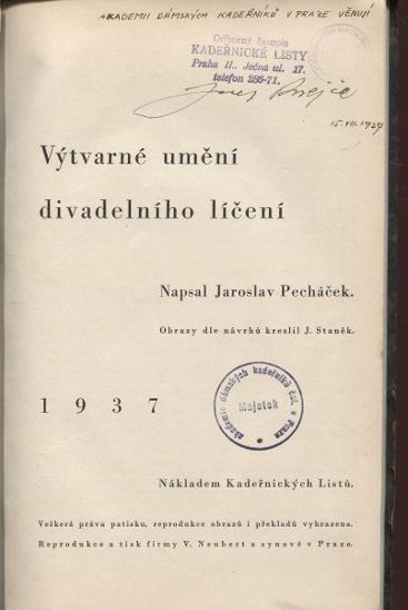 Výtvarné umění divadelního líčení (Kadeřnické lis - Knihy