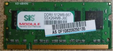 Ram DDRII 512MB so-dimm