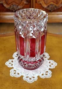 Velká křišťálová váza Val Saint Lambert 32 cm
