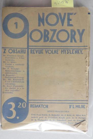 Nové obzory, ročník I. (bez čísla 8) - Knihy