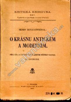 O krásnu antickém a moderním - Knihy