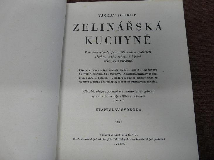 VÁCLAV SOUKUP-ZELINÁŘSKÁ KUCHYNĚ 1942 - Antikvariát