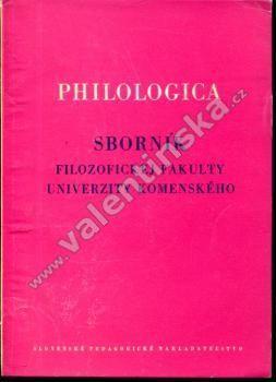 Philologica, sborník Filozofickej fakulty UK, 1962 - Knihy