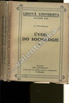 Úvod do sociologie, svazky I. - III.