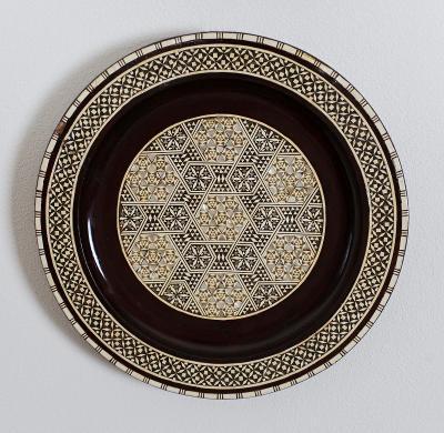 Ozdobné arabské talíře vykládané průměr 31 cm