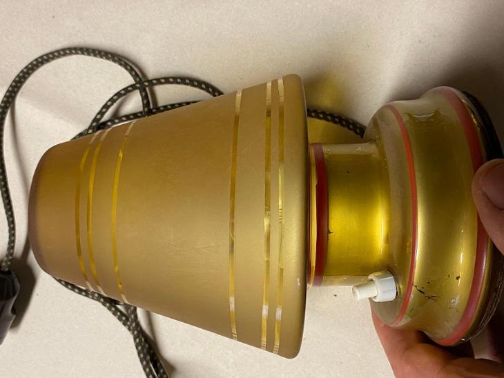 Stará skleněná stolní lampička - Starožitnosti