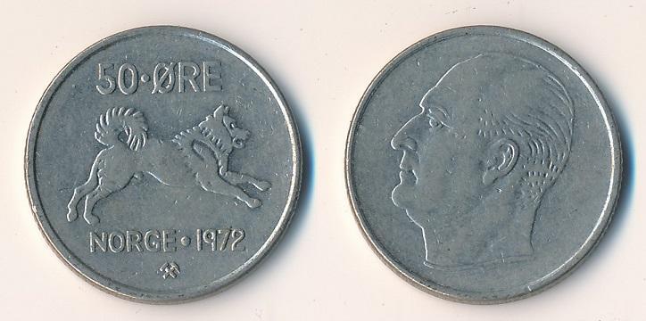 Norsko 50 ore 1972 - Numismatika