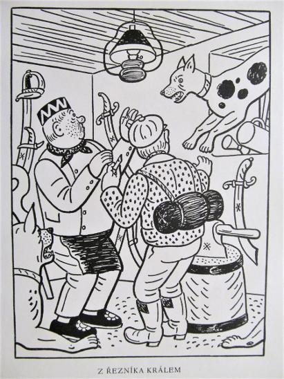 Z řezníka králem - Josef Lada,1941, čb. dobový ofset 20x14,5cm - Knihy