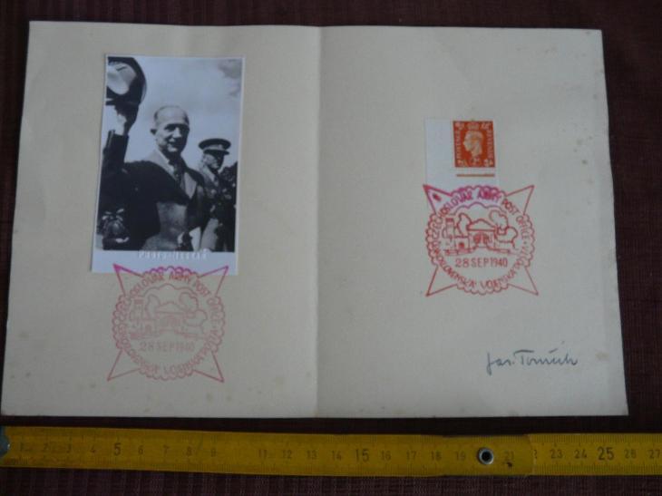 PAMĚTNÍ RAZÍTKA ČESKOSLOVENSKÁ VOJENSKÁ POŠTA 1940 - Filatelie