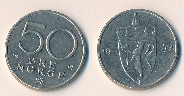 Norsko 50 ore 1979 - Numismatika