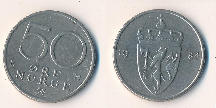 Norsko 50 ore 1984 - Numismatika