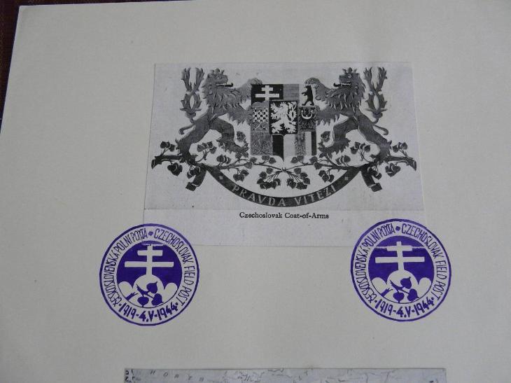 PAMĚTNÍ RAZÍTKA ČESKOSLOVENSKÁ POLNÍ POŠTA 1944 - Filatelie