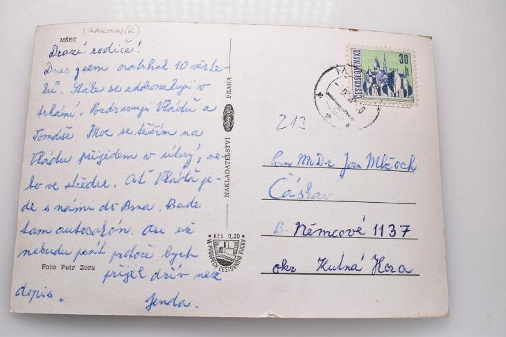 Mšec, okres Rakovník - Pohlednice