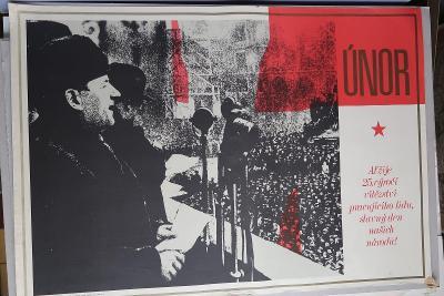 Plakát - Vítězný únor 25. výročí - komunismus, prop