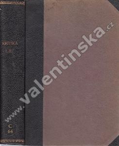 Kritika, r. I. a II. (1924 - 25)