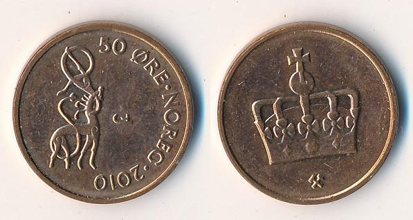 Norsko 50 ore 2010 - Numismatika