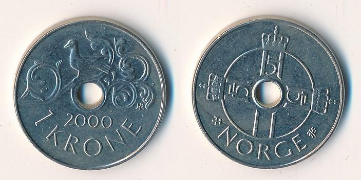 Norsko 1 koruna 2000 - Numismatika