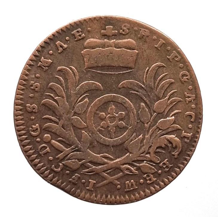 Hrabě Johann Fr. Karl v. Ostein - 3 Pfennig 1760 Mainz- povedená mince - Numismatika