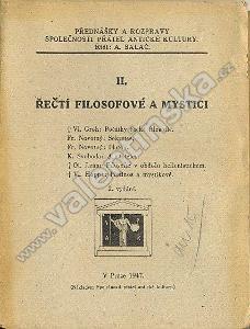 Řečtí filosofové a mystici II.