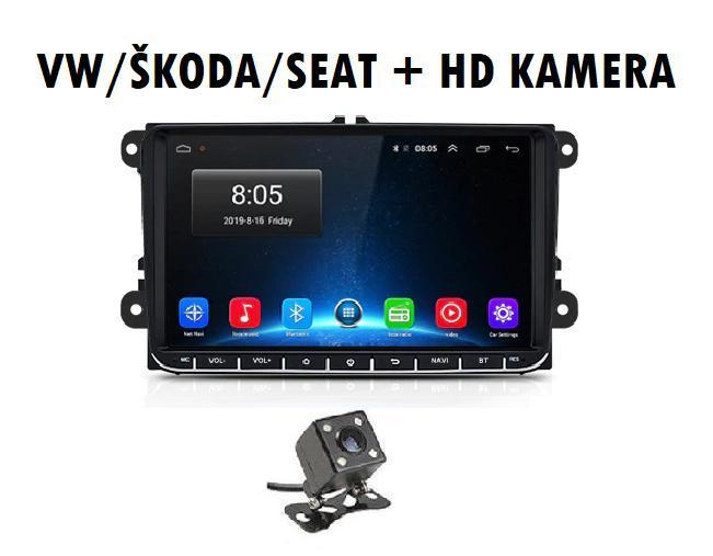 ANDROID 9.1 2din autorádio VW SKODA SEAT KAMEROU, WIFI, GPS, USB - TV, audio, video