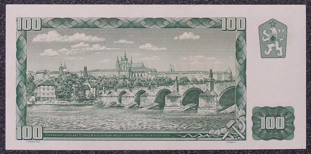 100 K 1961, série G40, vzácný číslovač 2d, aUNC!!! - Bankovky