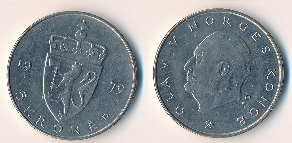 Norsko 5 korun 1979 - Numismatika