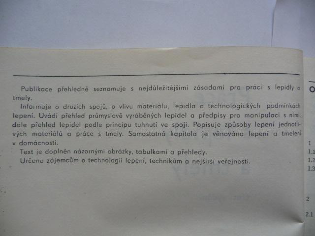 Práce s lepidly a tmely - Miloš Osten - SNTL 1986 - Knihy