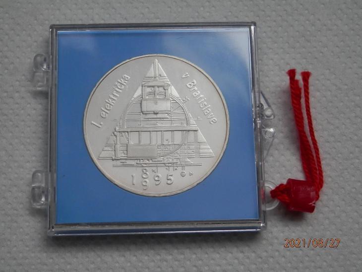200 SK PROOF VID FOTO 1 električka v Bratislave 1995. - Numismatika