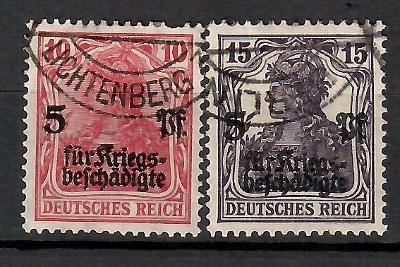 399 - Německo 1919, Mi 105-6, eur 11