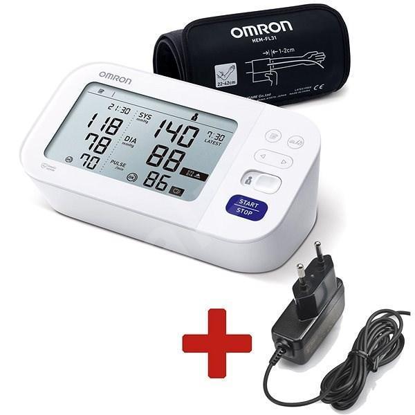 Tlakoměr OMRON M6 Comfort s AFIB +ZDROJ (SET), 5let záruka - Zdravotnické potřeby