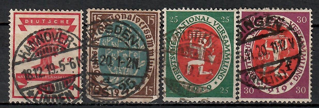 400 - Německo 1919, Mi 107 - 10, eur 8,5 - Filatelie