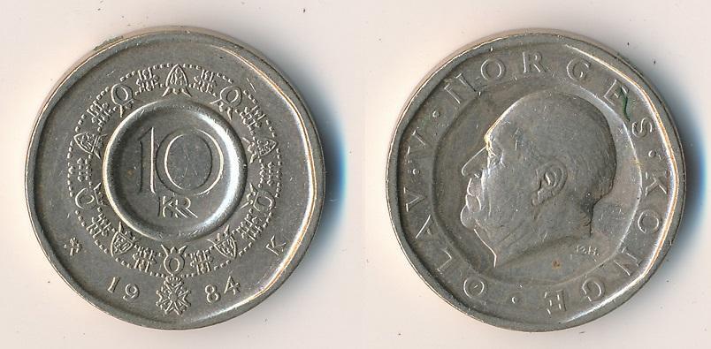 Norsko 10 korun 1984 - Numismatika