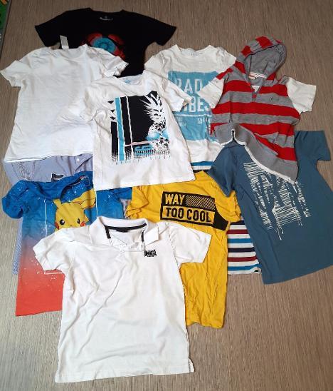 Set 10 kusů triček 9-10 let krátký rukáv - Oblečení