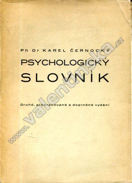 Psychologický slovník A - M - Knihy