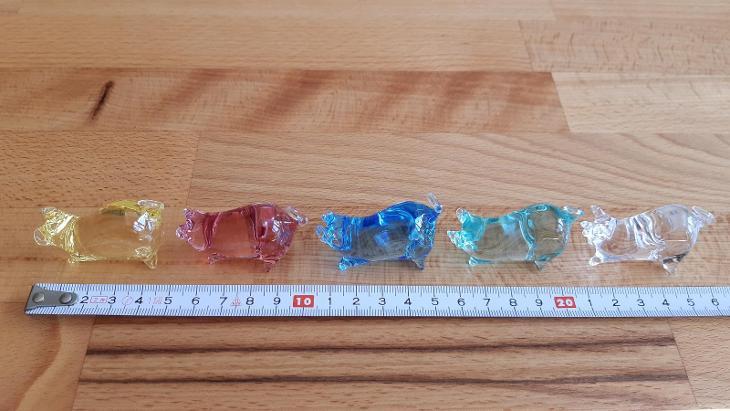 Dárkové prasátko Moser - Akvamarín (prodej starožitností a skla) - Starožitnosti