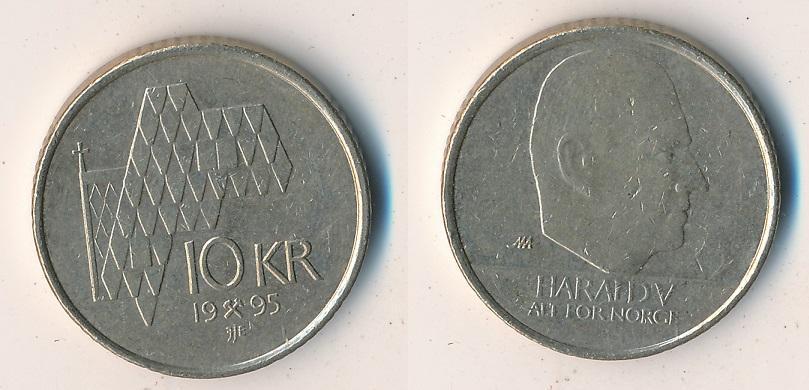 Norsko 10 korun 1995 - Numismatika