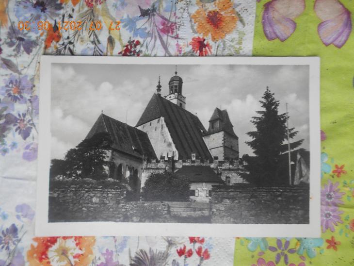 Pohled z Města Prachatice 1945 ?  - Pohlednice