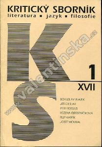 Kritický sborník, 1/XVII. (1997)