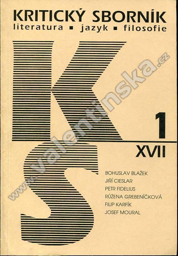 Kritický sborník, 1/XVII. (1997) - Knihy