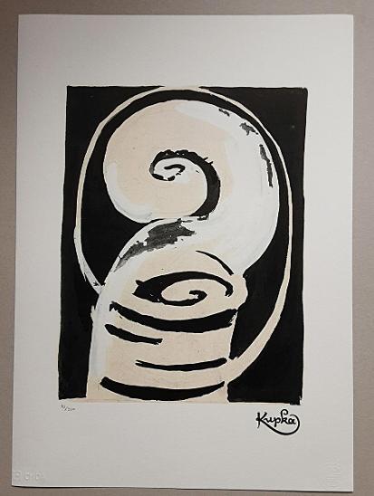 František  KUPKA -  litoofset s certifikátem, velký formát XXL - Umění
