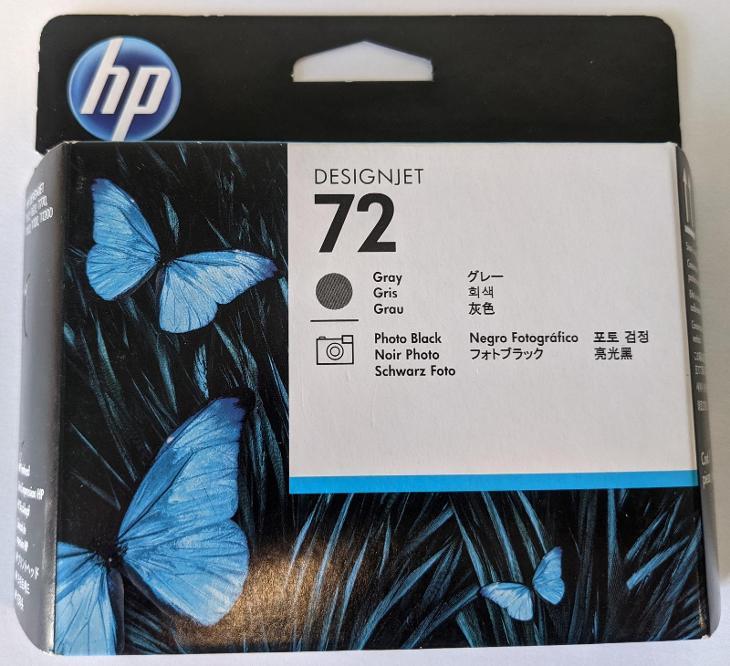 Originální tisková hlava HP 72 šedá - Příslušenství k PC