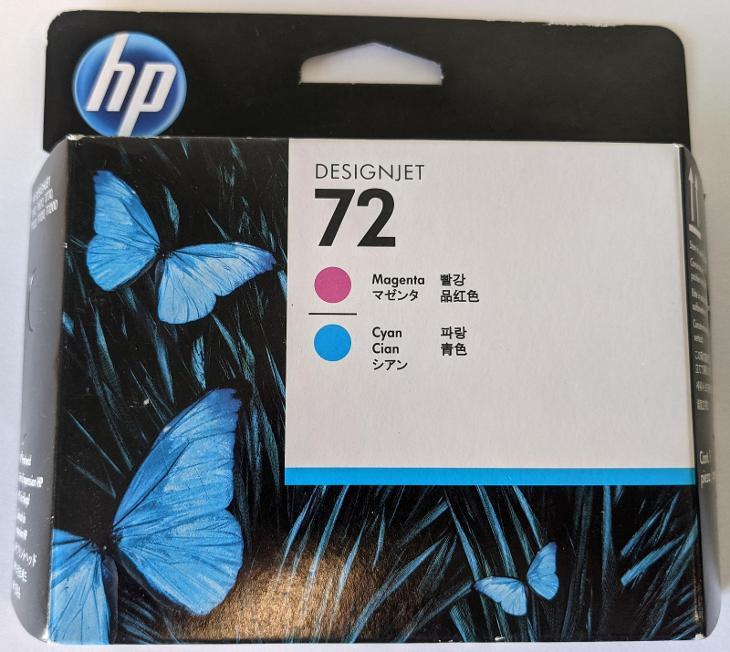 Originální tisková hlava HP 72 purpurová a azurová - Příslušenství k PC