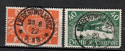403 - Německo 1919, Mi 111 - 12, eur 7