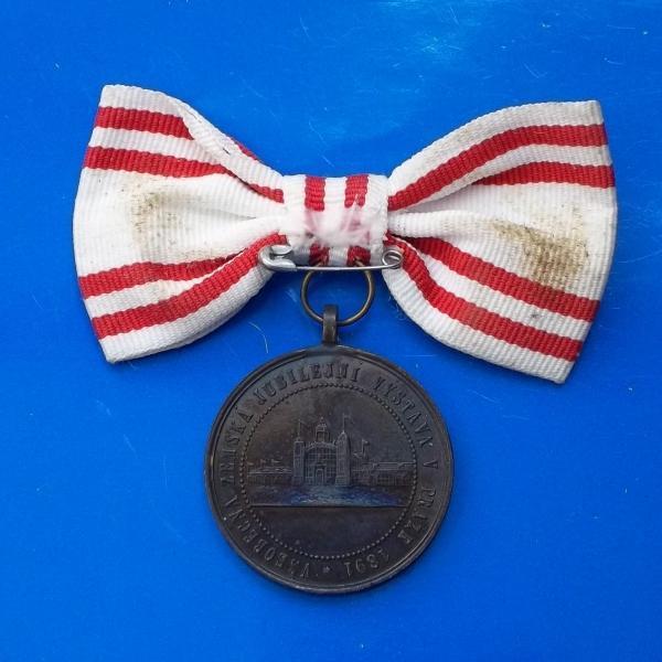 František Josef I.-Návštěva Prahy 1891-nápis Král Český vzácná medaile - Numismatika