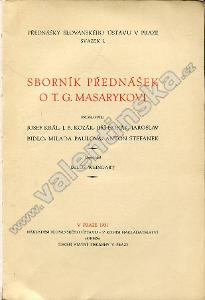 Sborník přednášek o T. G. Masarykovi