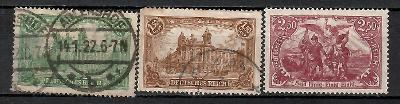 406 - Německo 1920, Mi 113 - 15, eur 6,5